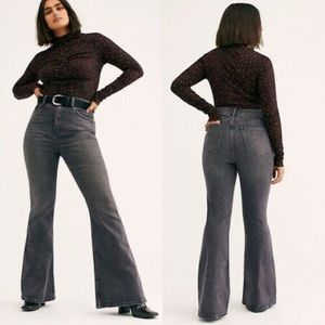Free People Robyn Crvy High Rise Flare Jeans 35